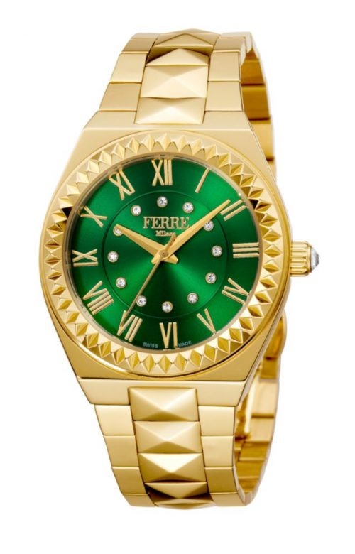 FERRE MILANO OUTRE GOLD STAINLESS STEEL BRACELET
