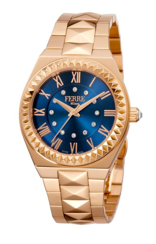 FERRE MILANO OUTRE ROSE GOLD STAINLESS STEEL BRACELET