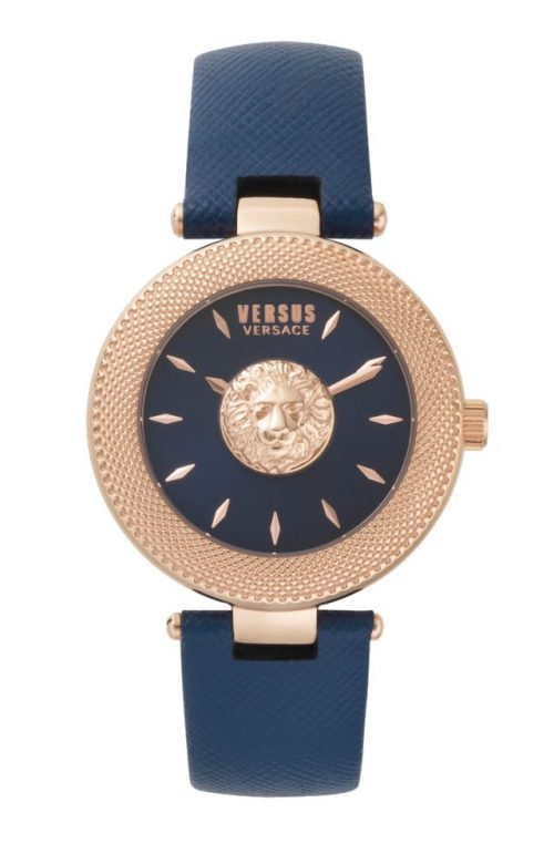 VERSUS VERSACE BRICKLANE BLUE LEATHER STRAP
