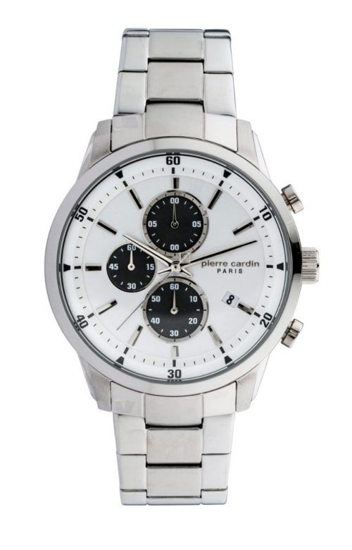 PIERRE CARDIN CHAMPERRET CHRONOGRAPH SILVER STAINLESS STEEL BRACELET