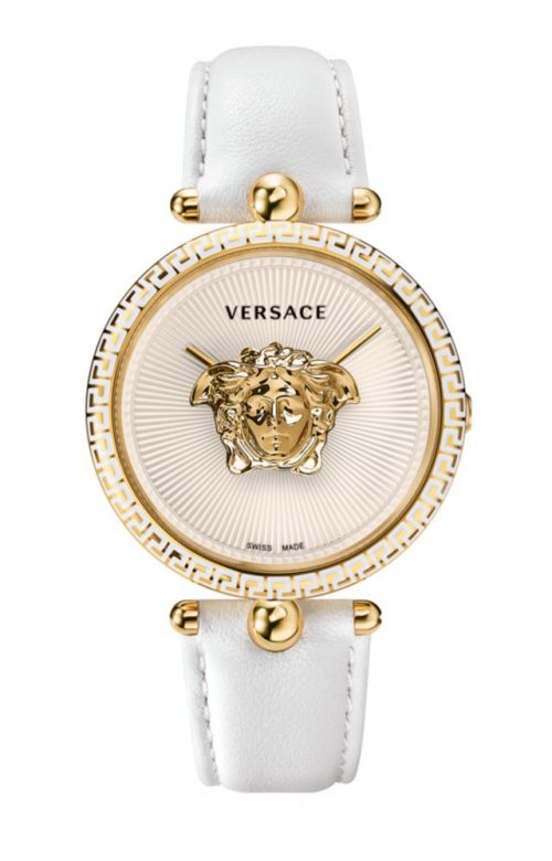 VERSACE PALLAZO EMPIRE WHITE LEATHER STRAP