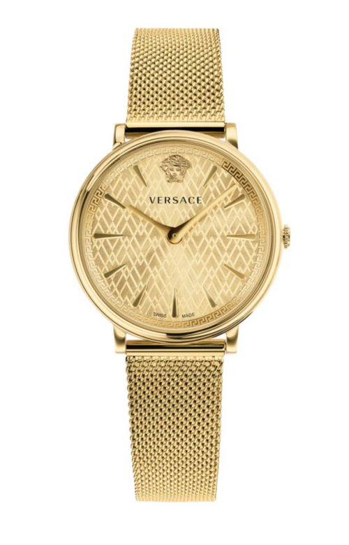 VERSACE V-CIRCLE GOLD STAINLESS STEEL BRACELET