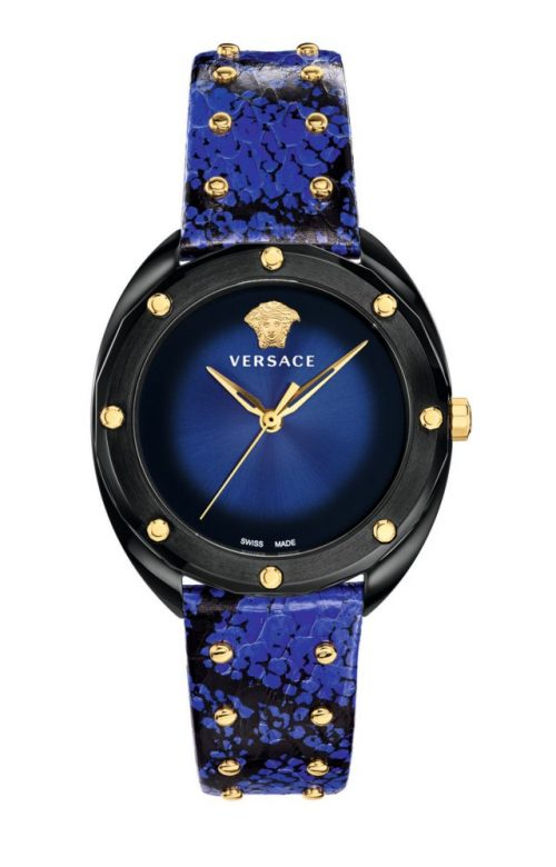 VERSACE Shadov Multicolor Leather Strap