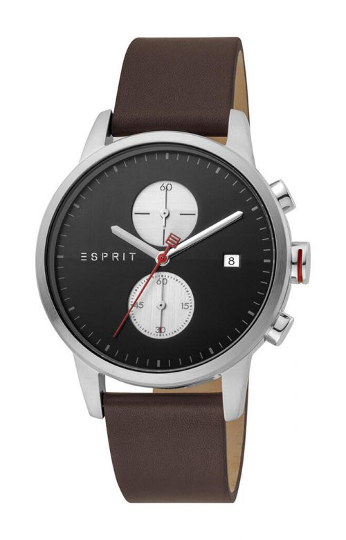 ESPRIT LINEAR BROWN LEATHER STRAP