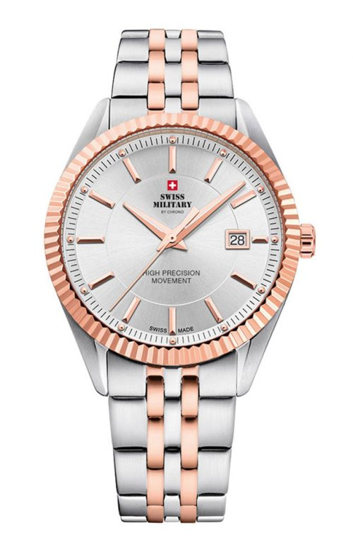 SWISS MILITARY BY CHRONO TWO TONE STAINLESS STEEL BRACELET